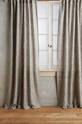 Slub Silk Curtain - Anthropologie