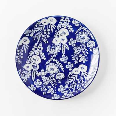 Collector's Editions Plates - Navy Floral - West Elm