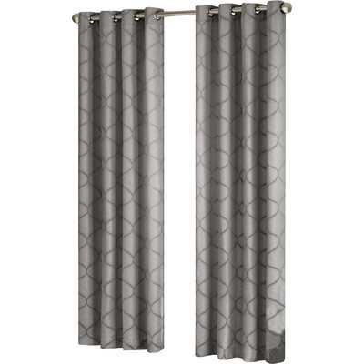 "Amara Window Single Curtain Panel-95""-Grey - Wayfair"
