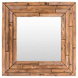 Elina Wall Mirror, Light Brown - One Kings Lane