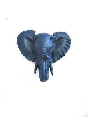 Small Faux Taxidermy Elephant Head - Etsy