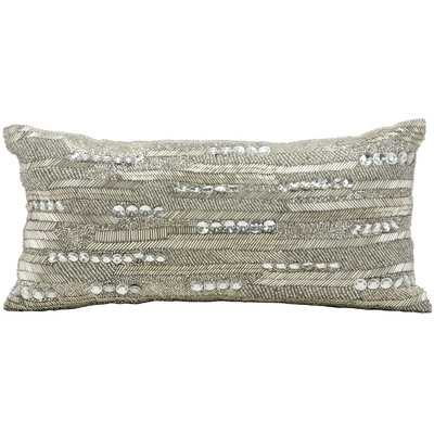 Luminescence Brilliant Beading Polyester Lumbar Pillow by Nourison - Wayfair