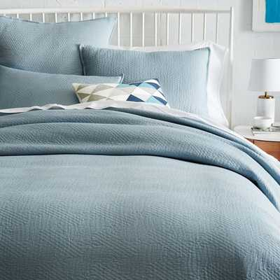 Organic Matelasse Duvet Cover- Queen - West Elm
