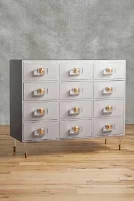 Lacquered Regency Twelve-Drawer Dresser-Gull - Anthropologie