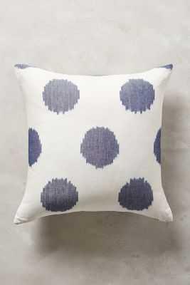 """Ink Drop Blue Pillow - 18"""" x 18"""" - polyfill insert - Anthropologie"""