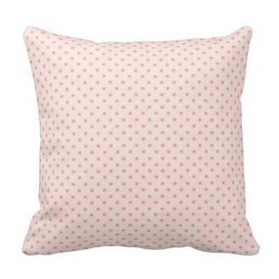 Pale Pink - Blush Pink Polka Dot Pillow - zazzle.com