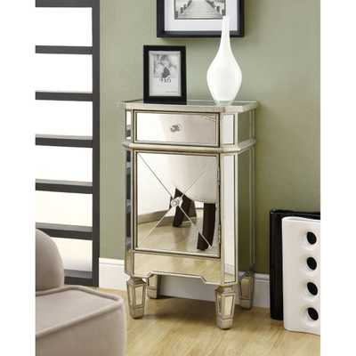 Mirrored 1-drawer Accent Cabinet - Overstock