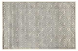 Burton Rug, Beige/Gray - One Kings Lane