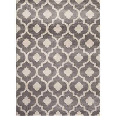 Moroccan Trellis Contemporary Gray 7 ft. 10 in. x 10 ft. 2 in. Indoor Area Rug - Overstock