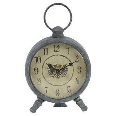 Vintage Aluminum Decorative Clock - Grey - Target