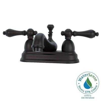 Bradsford 4 in. 2-Handle Mid-Arc Bathroom Faucet in Oil Rubbed Bronze - Home Depot