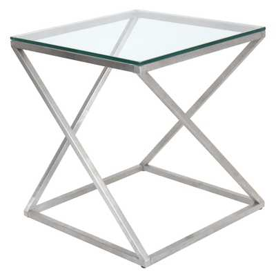 4Z Stainless Steel Modern End Table - Overstock