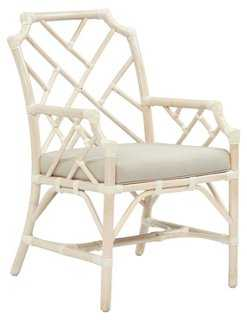 Francis Armchair, Cream - One Kings Lane