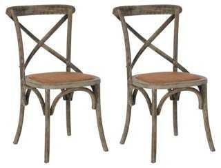 Gray Bonnie Side Chairs, Pair - One Kings Lane