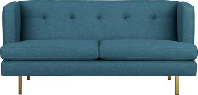 avec apartment sofa with brass legs - CB2