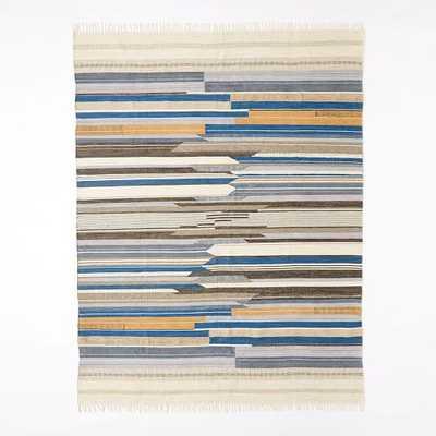 Mixed Stripe Wool Dhurrie - 8x10 - West Elm