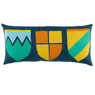 """Coat of Arms Throw Pillow - 24""""Wx11""""H - polyester fill - Land of Nod"""