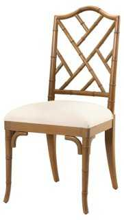 Moselle Side Chair, Smokehouse/Off-White - One Kings Lane