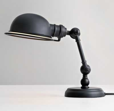 mini academy task table lamp oil-rubbed bronze - RH Baby & Child