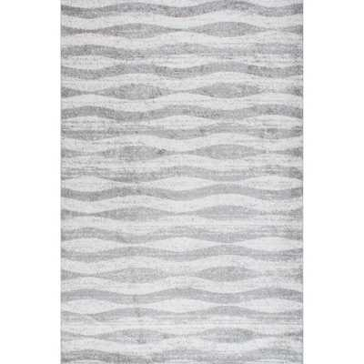 Contemporary Waves Rug - 5' x 8' - Grey - Overstock