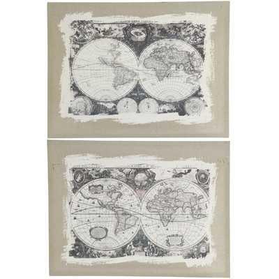 "Whittier Graphic Wall Plaques-32"" H x 25"" W x 2"" D-Unframed - Wayfair"