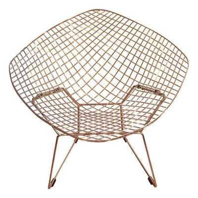 Mid-Century Modern Bertoia Style Diamond Chair - Chairish