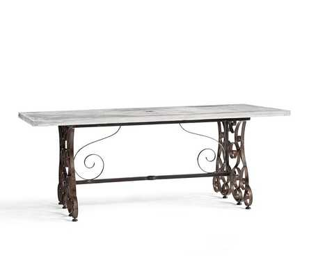 Rosalie Concrete-Top Rectangular Dining Table - Pottery Barn
