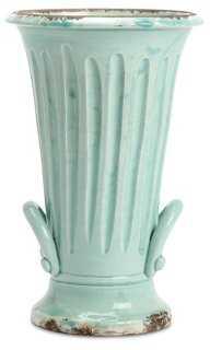 Small Handled Trumpet Vase - One Kings Lane