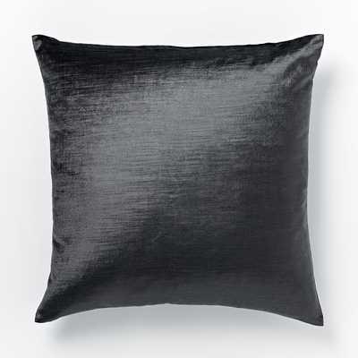 """Luster Velvet Pillow Cover - Slate - 20"""" - without insert - West Elm"""