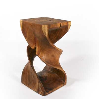 Double Twist End Table - Wayfair