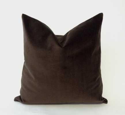 Chocolate Brown Decorative Pillow Cover - Etsy