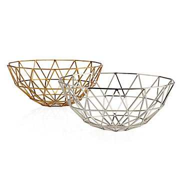Hexadome Bowl- Golden - Z Gallerie