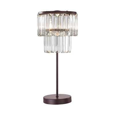 Antoinette 1 Light Table Lamp In Bronze - Rosen Studio