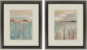 "DISTANT MOUNTAINS FRAMED WALL ART - 26""H x 22""W x 2""D - Dark Brown - Home Decorators"