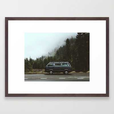 """Framed Art Print / Conservation Walnut (26"""" x 20"""") - Society6"""