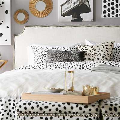Nail Button Linen Upholstered Headboard - Wayfair