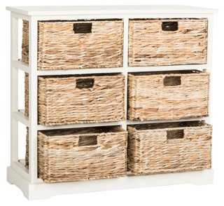 Kera 6-Basket Storage Shelf - One Kings Lane
