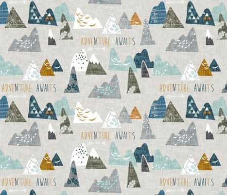 Max's Mountains WALLPAPER - Spoonflower
