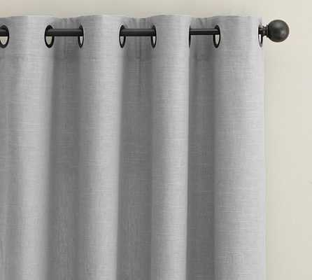 Emery Grommet Drape - Cotton Lining - Gray- 50x108 - Pottery Barn