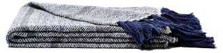 Hand-Loomed Chambray Throw - One Kings Lane