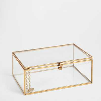 GLASS AND METAL BOX - Zara Home