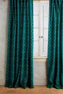 Concave Diamonds Curtain - Anthropologie