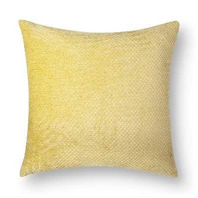 "Westfield Chenille Toss Pillow, Yellow - 18''x 18"" - Polyester fill - Target"