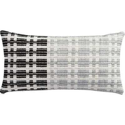 "Telegraph 23""x11"" pillow with down-alternative insert - CB2"