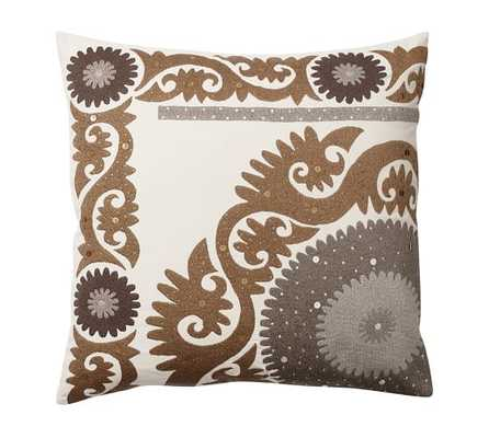 """METALLIC SUZANI PILLOW COVER -24"""" square - Insert sold separately. - Pottery Barn"""