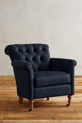 Linen Gwinnette Chair - Anthropologie