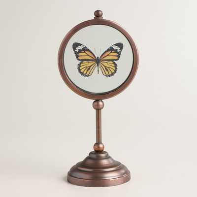 Glass Butterfly on Stand - orange - World Market/Cost Plus