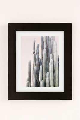"Wilder California Summer Cactus Art Print - 18"" x 24"" - Framed - Urban Outfitters"