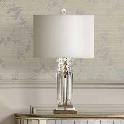 Possini Euro Design Lucile Hanging Crystal Modern Table Lamp - Lamps Plus