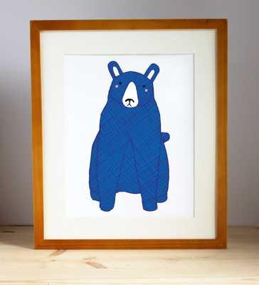 Blue Bear Print, unframed - Etsy